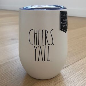 Rae Dunn Insulated Stainless Steel Wine Glass.